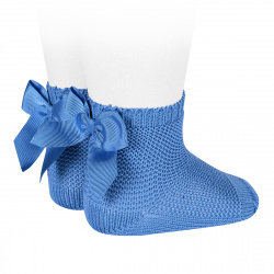 Garter stitch short socks with bow MAYAN