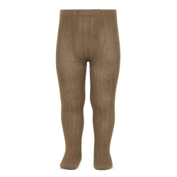 Basic rib tights TOBACCO
