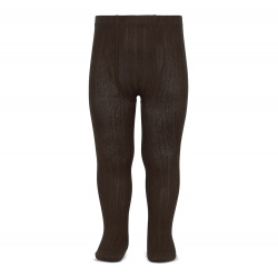 Basic rib tights BROWN