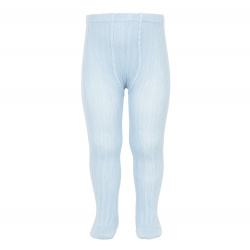 Basic rib tights BABY BLUE