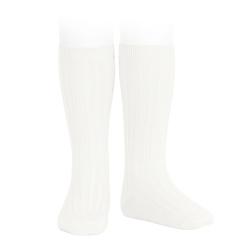 Basic rib knee high socks CREAM