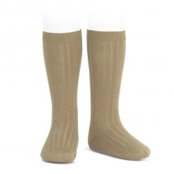 Basic rib knee high socks ROPE