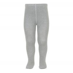 Plain stitch basic tights ALUMINIUM
