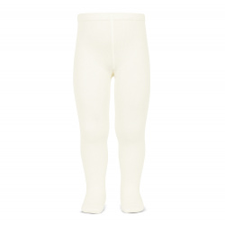 Plain stitch basic tights BEIGE