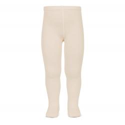 Plain stitch basic tights LINEN