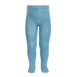 Plain stitch basic tights CLOUD