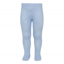 Plain stitch basic tights LIGHT BLUE