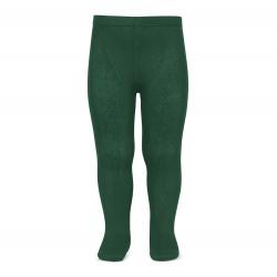 Plain stitch basic tights BOTTLE GREEN