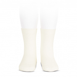 Elastic cotton short socks BEIGE