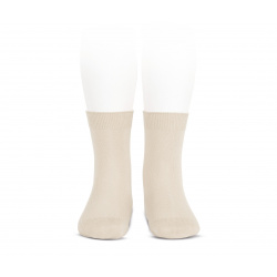 Elastic cotton short socks LINEN