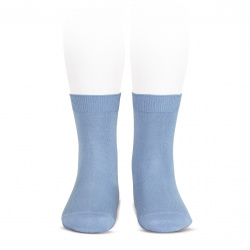 Elastic cotton short socks BLUISH