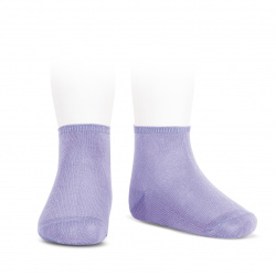 Elastic cotton ankle socks MAUVE