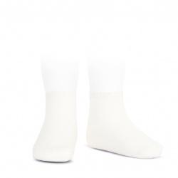 Elastic cotton ankle socks CREAM