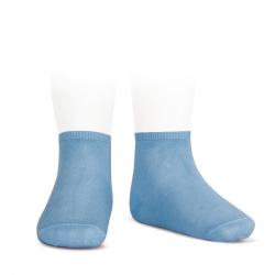 Elastic cotton ankle socks BLUISH