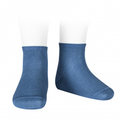 Elastic cotton ankle socks FRENCH BLUE