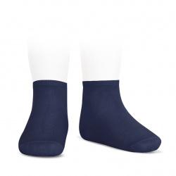 Elastic cotton ankle socks NAVY BLUE