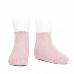 Elastic cotton ankle socks PINK