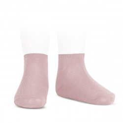 Elastic cotton ankle socks PALE PINK