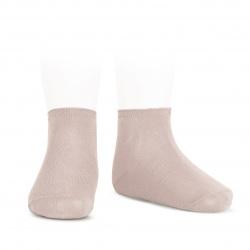 Elastic cotton ankle socks OLD ROSE