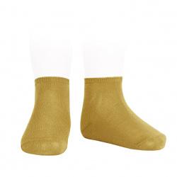 Elastic cotton ankle socks MUSTARD
