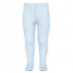 Plain stitch spring tights BABY BLUE