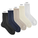 Ceremony tactel short socks with side pattern