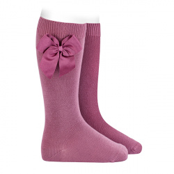 Knee-high socks with grossgrain side bow CASSIS