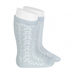 Cotton openwork knee-high socks PEARLY