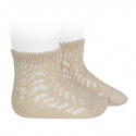 Cotton openwork short socks LINEN