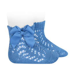 Cotton openwork short socks with bow MAYAN
