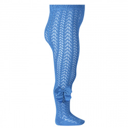 Openwork perle tights with side grossgrain bow MAYAN
