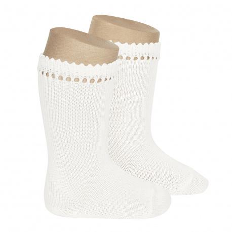 Perle knee high socks WHITE