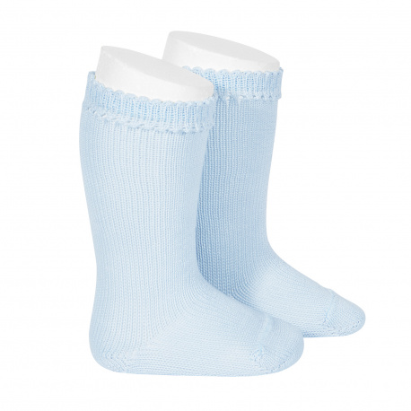 Perle knee high socks BABY BLUE