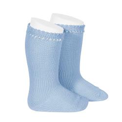 Perle knee high socks BLUISH