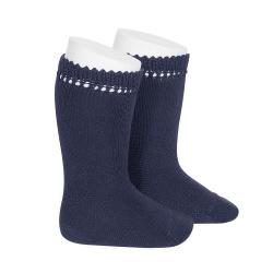 Perle knee high socks NAVY BLUE