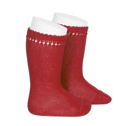 Perle knee high socks RED