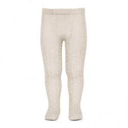 Perle openwork tights lateral spike LINEN