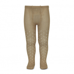 Perle openwork tights lateral spike ROPE