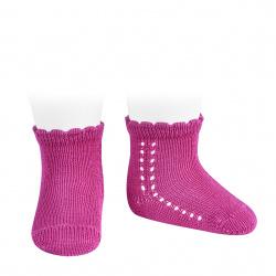 Perle side openwork short socks BUGAMBILIA