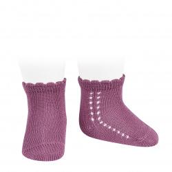 Perle side openwork short socks CASSIS