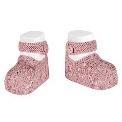 shell openwork booties PALE PINK