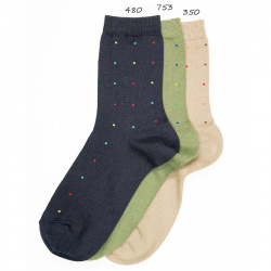Seaqual small dots embroidery short socks