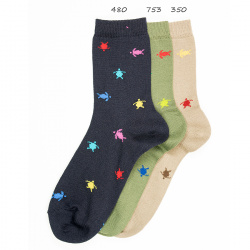 Seaqual colourful turtle short socks