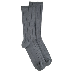 Men modal 18x2 rib loose fitting socks