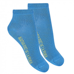 Basic ankle socks ELECTRIC BLUE