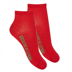 Basic ankle socks RED