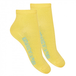 Basic ankle socks YELLOW