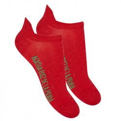 Basic trainer socks RED