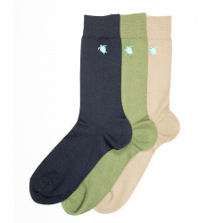 Men seaqual turtle embroidery short socks