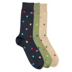 Men seaqual colourful turtles short socks